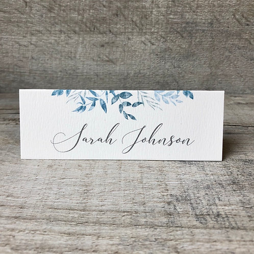 leaf name place card
