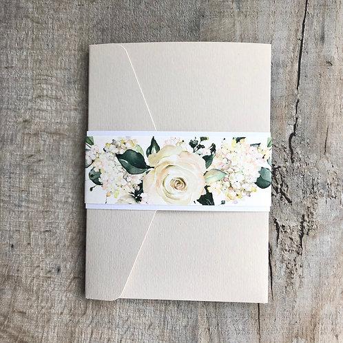 ivory wedding invitation