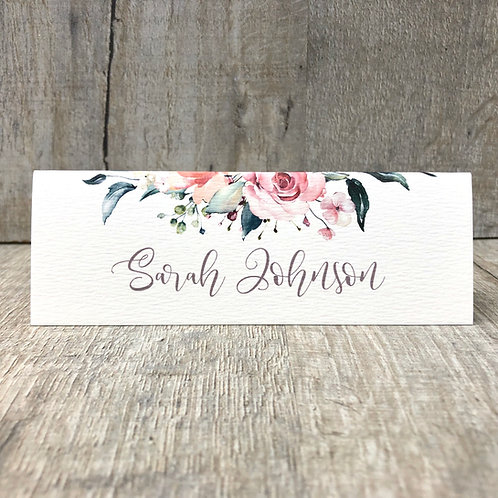 blush pink wedding table names