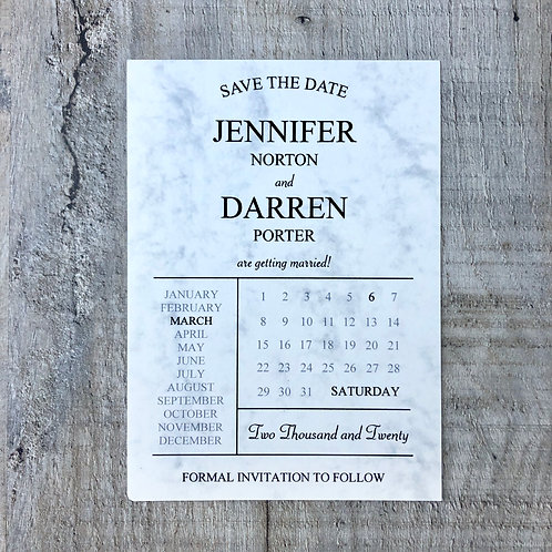 Marble Save the Dates
