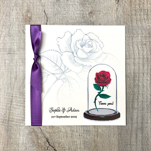 Red Rose (Thank You Card)