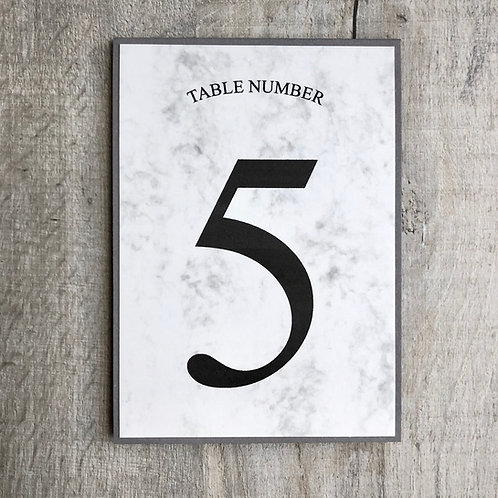 marble table number