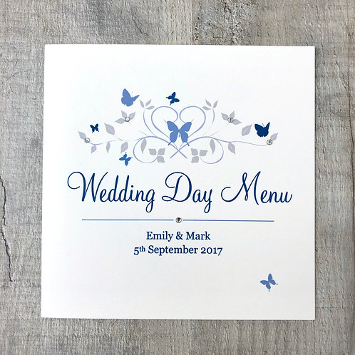 butterfly wedding menus