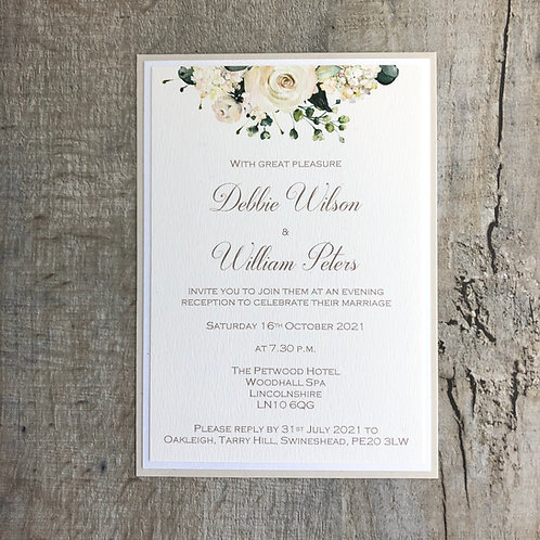 Ivory wedding invitation