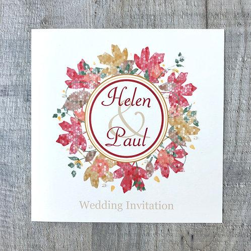 Autumn Wedding Invitation