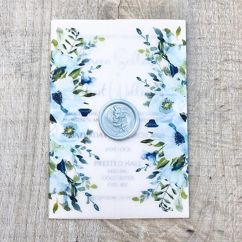 Dusty Blue Wedding Invitation