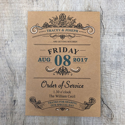 Quirky Order of service