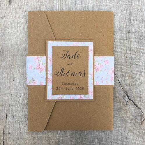 Vintage floral wedding invites