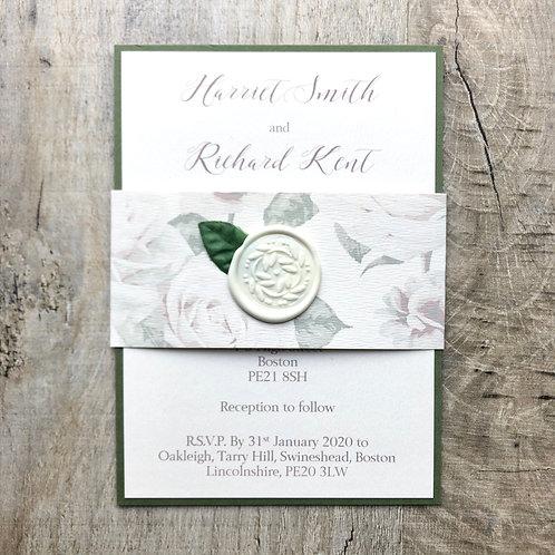Natural wedding invites