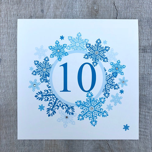 Snowflake Table Number Name