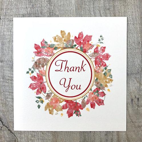 Autumn Thank you card