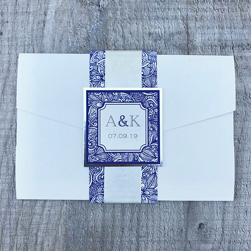 Indian pocketfold wedding invitations