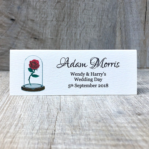Beauty and the Beast Guest Name Place Card