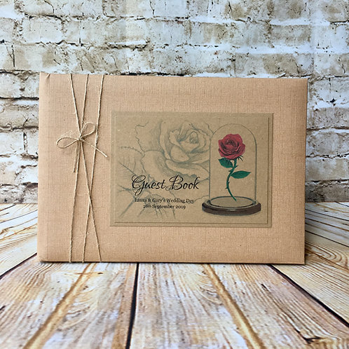 Vintage Beauty & the Beast Guest Book