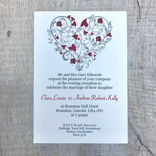 Love Heart wedding invites