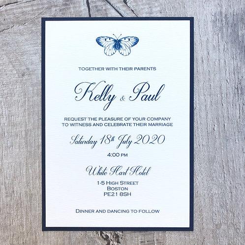 Navy wedding invites