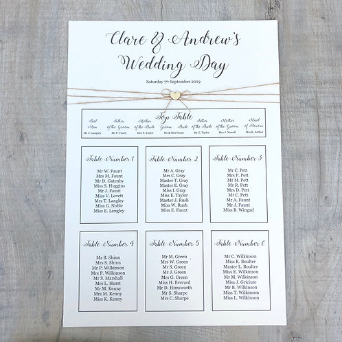 wooden heart table plan