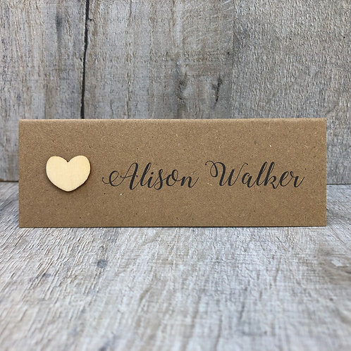 Simple Rustic Name Place Card