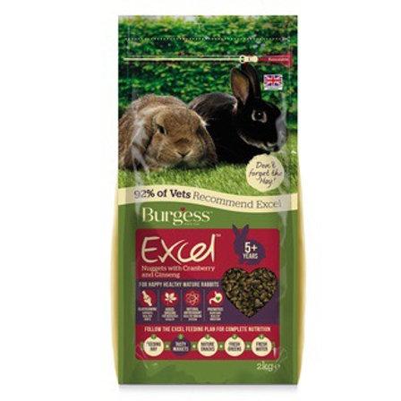 Burgess Excel Mature Rabbit Pellets with cranberry 2 kg