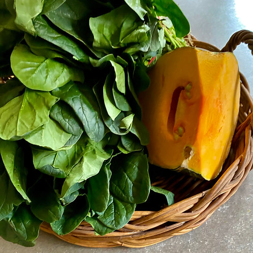 Pumpkin and English Spinach