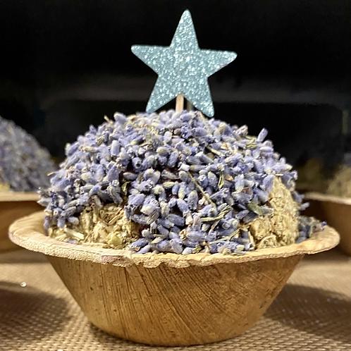 Happy Birthday Blue lavender Cake
