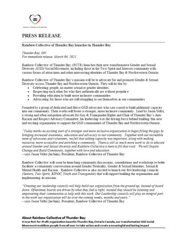 Launch Press Release Page 1