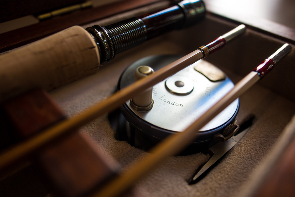 Bamboo fly fishing rod custom made by Chris Clemes fly rod makers