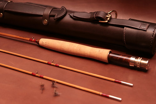 Leather fishing rod tube by Chris Clemes, England