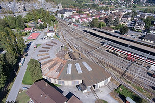 Photo avec drone - Rotonde St-Maurce