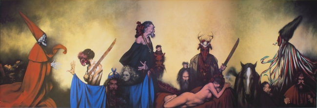 El Tastuán y la niña de Jerez (65 x 195 cm)