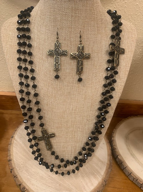 Woman in Black Jewelry set
