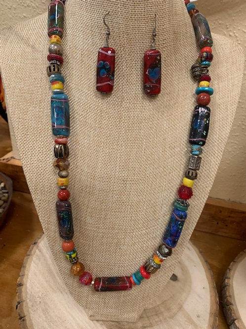 Beads of Many Colors Jewelry set