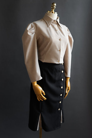 Secretariando - camisa saia
