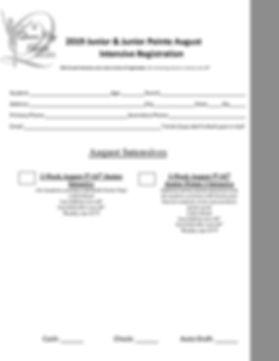2019_Registration August_Junior Intensiv