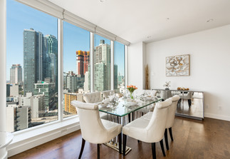 Dining room over the city Architectural Interior Long Island Photography