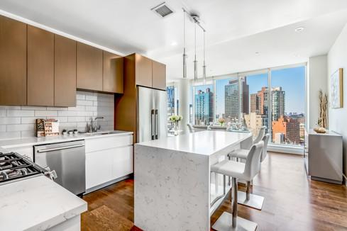 Kitchen in Luxury New York City Development