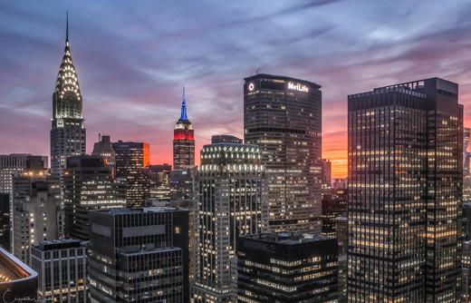 Midtown New York City at Twilight