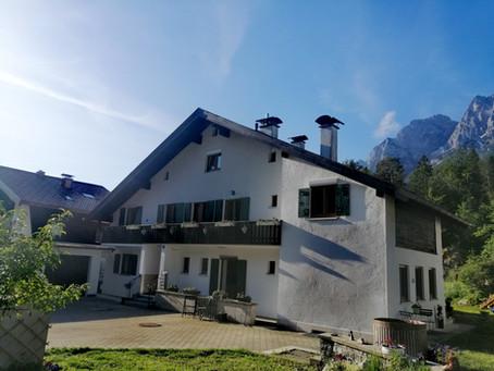 Wundervoller Morgen in Grainau am Fusse der Zugspitze
