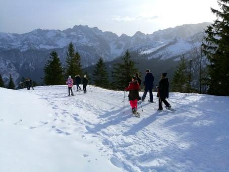 Gute Bedingungen für ausgedehnte Schneeschuhtouren im Garmisch Classic Gebiet