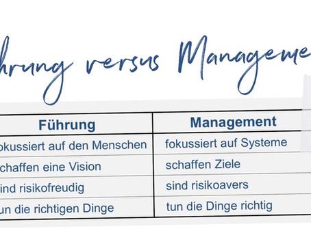 Führung versus Management