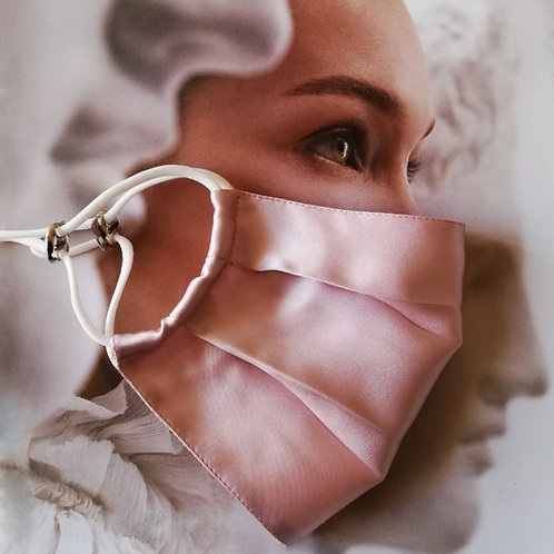 Silk mask (coral pink)
