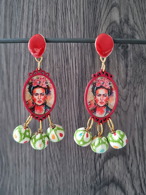 Frida kahlo earrings (hot red)