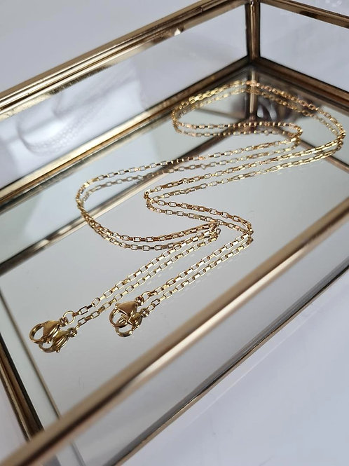 Gold tiny mask chain