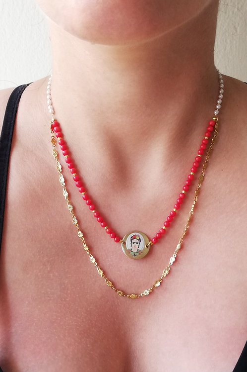 Frida Kahlo collection (2layers necklace)
