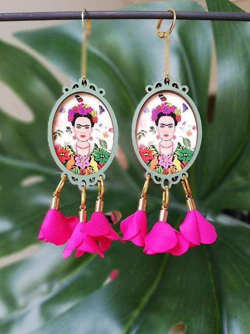 Frida kahlo earrings (fuchsia)