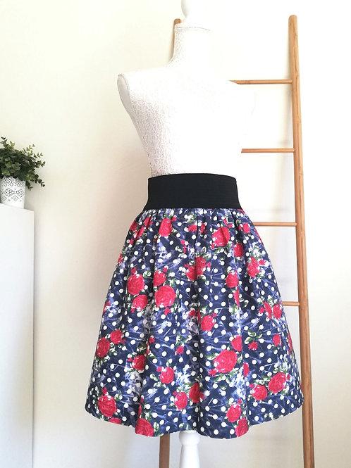 Floral dots skirt