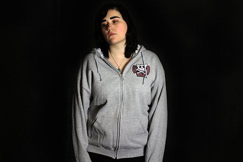 MKR Zip Up Real Punk Gray Hoodie