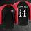 Thumbnail: MKR 5 Year Anniversary Baseball Tee (Black/Red)