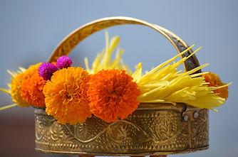 Rijal-Flowers for festival.JPG
