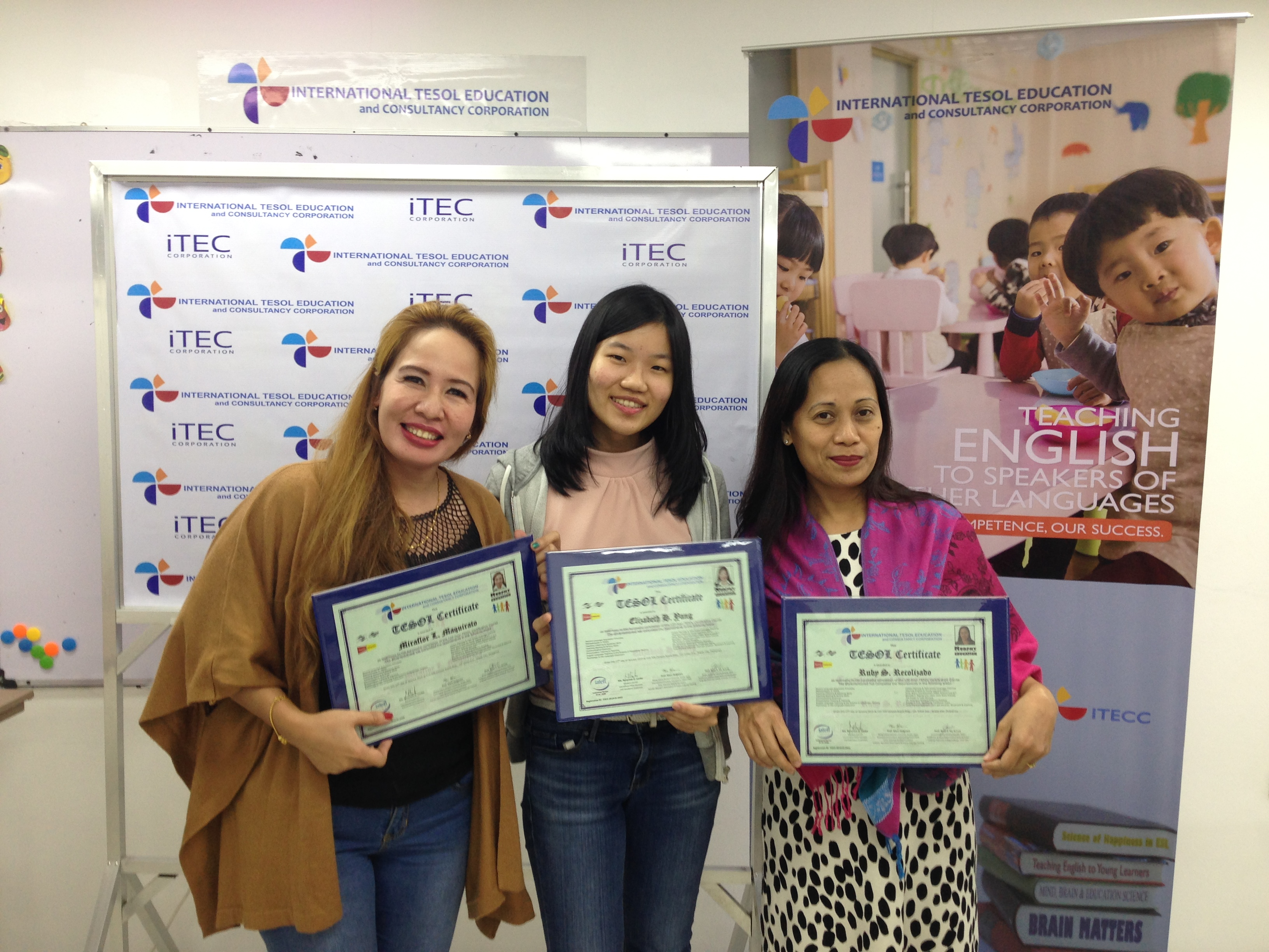 Graduates of our 120-hr TESOL Progra